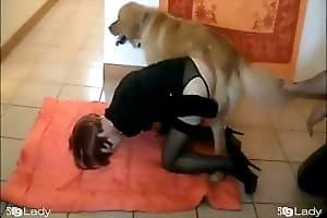 girl with animal